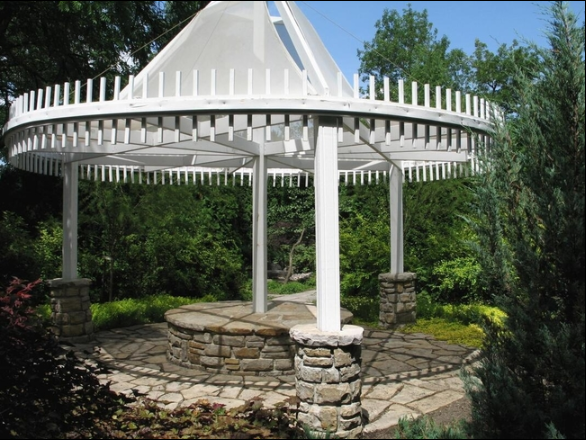 Picture of a newly constructed gazebo.